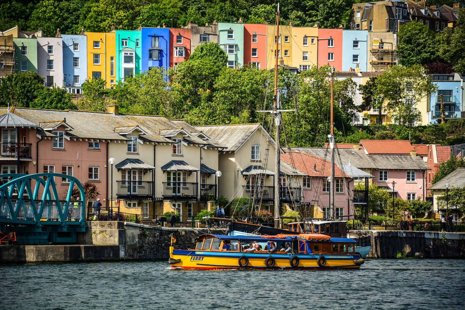 Houses on Bristol Harbourside