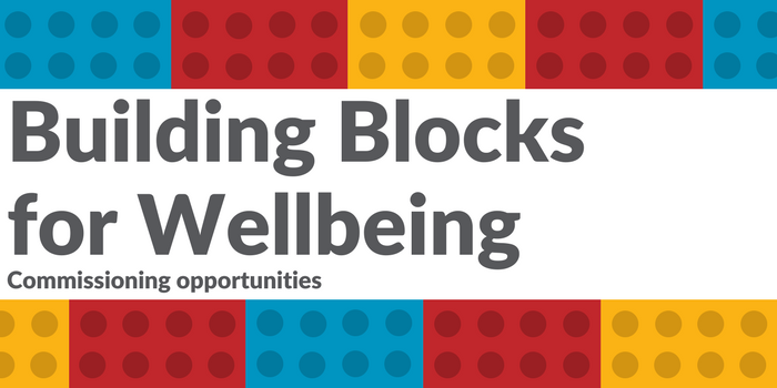Text 'Building Blocks for Wellbeing'