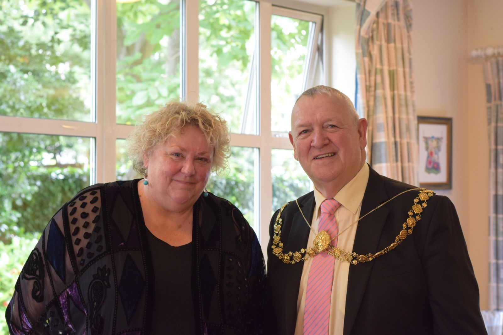 Barbara Bloomfield and Bristol Lord Mayor Councillor Jeff Lovell
