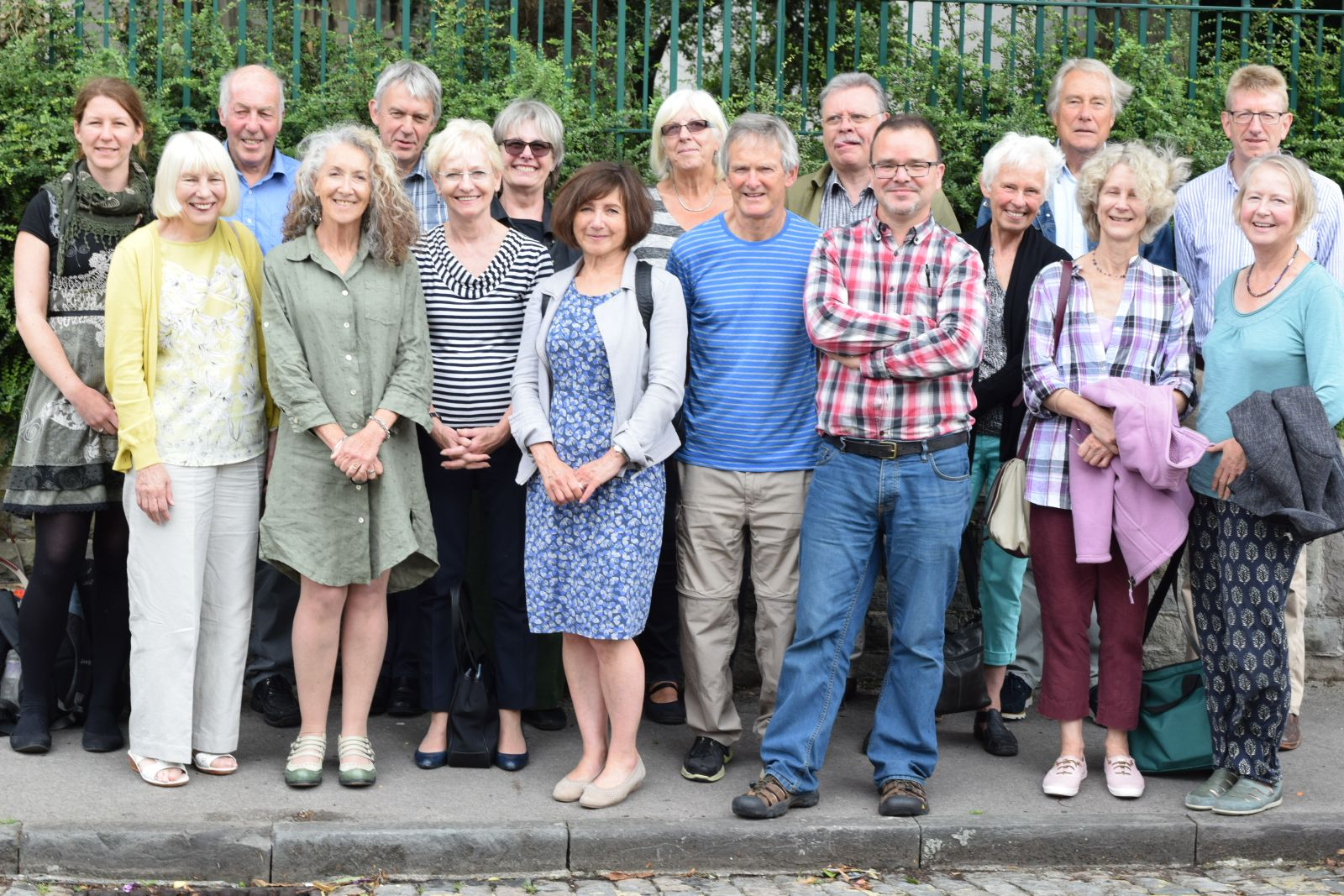 A group of community researchers poses together