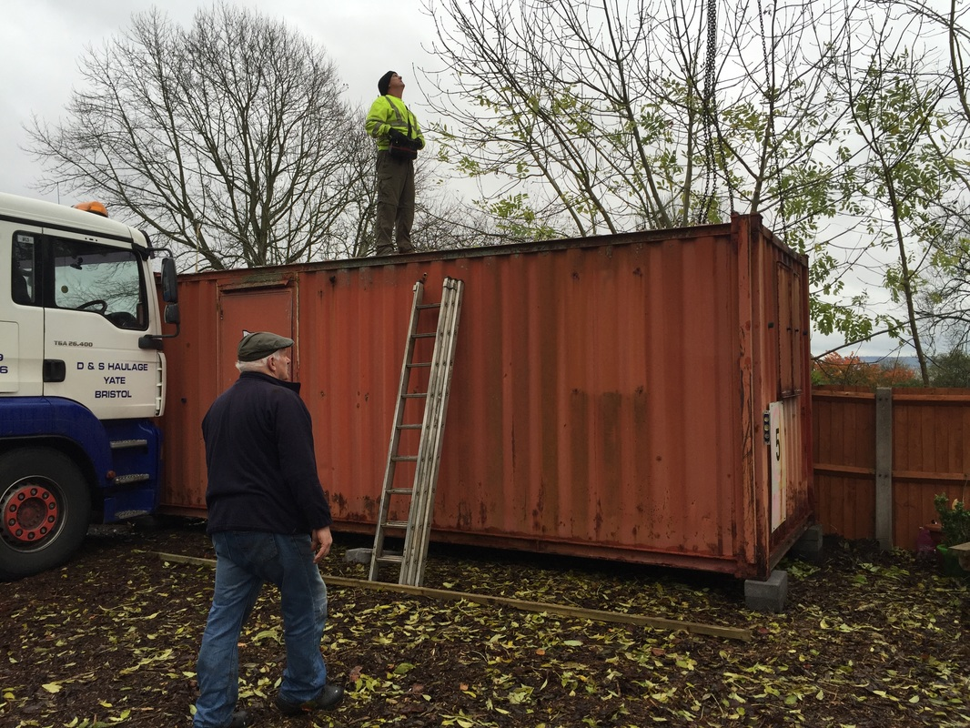 Men working on a container